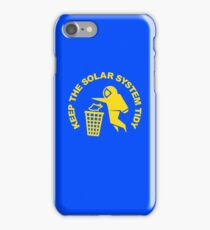 Keep the Solar System Tidy - Yellow iPhone Case/Skin