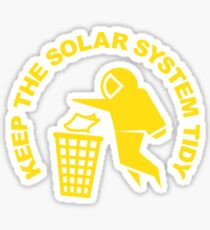 Keep the Solar System Tidy - Yellow Sticker