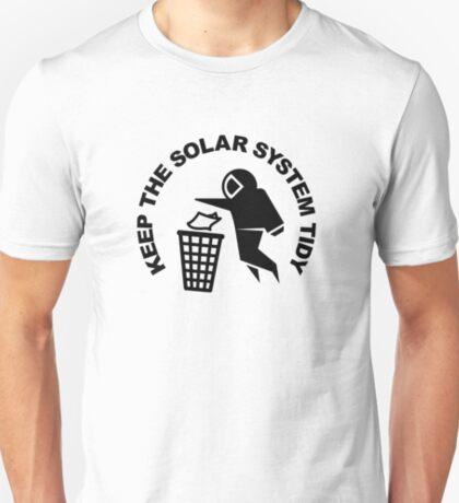 Keep the Solar System Tidy - Black T-Shirt