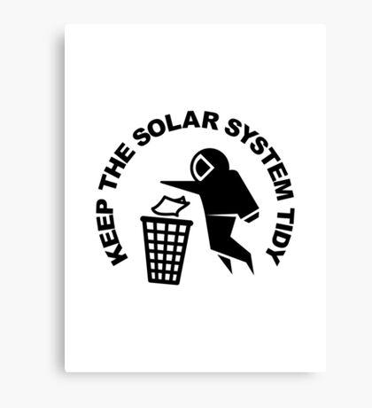 Keep the Solar System Tidy - Black Canvas Print