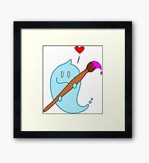 Artsy love Framed Print