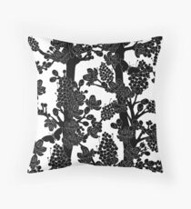 Romantic black trees Throw Pillow