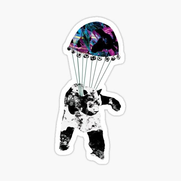 Parachute Panda Two Sticker
