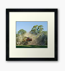 And LIFTOFF! Framed Print