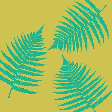 Retro Fern - Yellow & Green by annumar