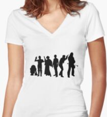 Millenium Falcon Crew Women's Fitted V-Neck T-Shirt