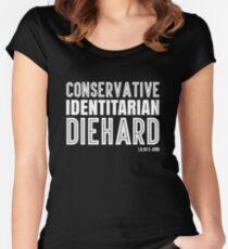 Conservative. Identitarian. Diehard. Women's Fitted Scoop T-Shirt