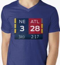 NE 3 ATL 28 T-Shirt mit V-Ausschnitt für Männer