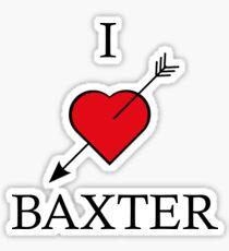 I love Baxter - tattoo Sticker