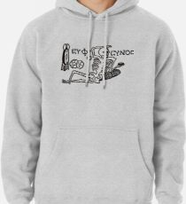 Be Cheerful, Live Well Skeleton Pullover Hoodie