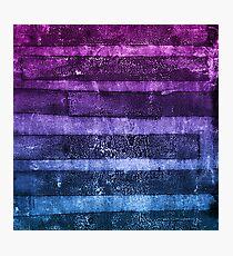 monoprint stripes 1 Photographic Print