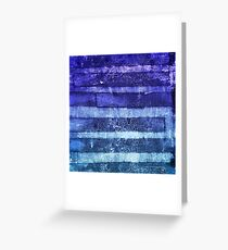 monoprint stripes 2 Greeting Card