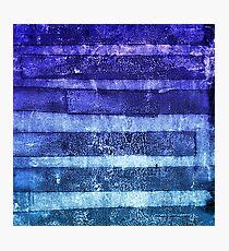 monoprint stripes 2 Photographic Print