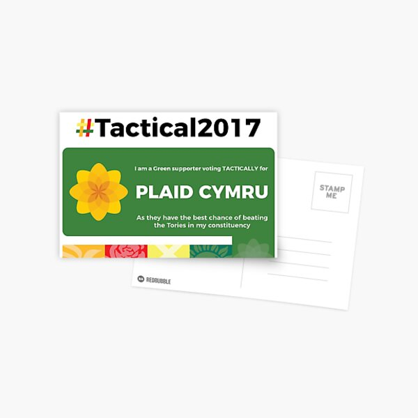 Green supporting Plaid Cymru Postcard