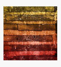 monoprint stripes 4 Photographic Print
