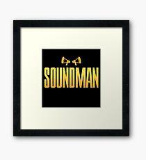 Golden Soundman Framed Print