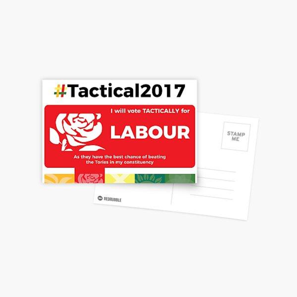Vote Labour Tactically Postcard