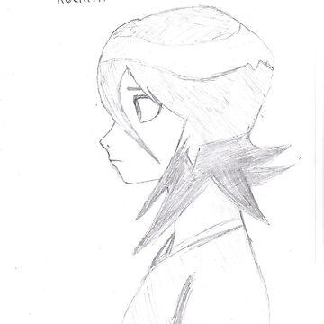 Rukia Kuchiki sketch by SStevenson