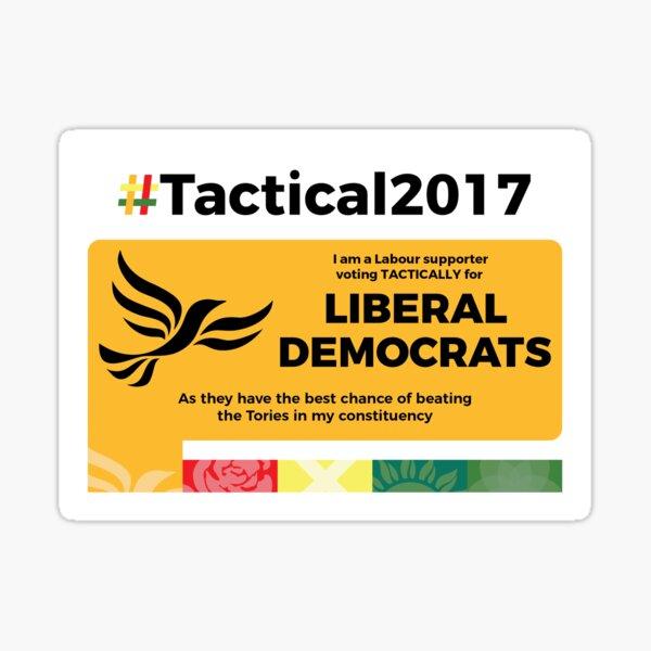 Labour supporting Lib Dem Sticker