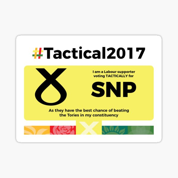 Labour supporting SNP Sticker