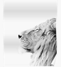 Minimaler Löwendruck Poster