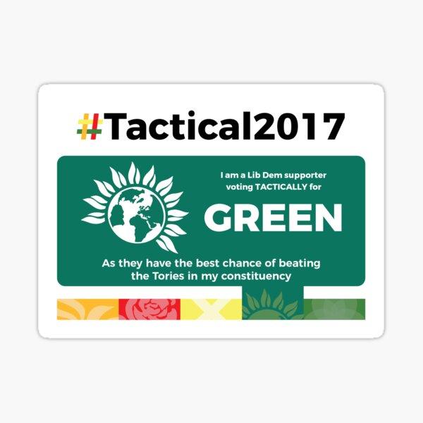 Lib Dem supporting Greens Sticker