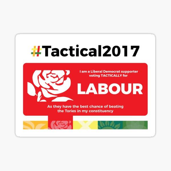 Lib Dem supporting Labour Sticker