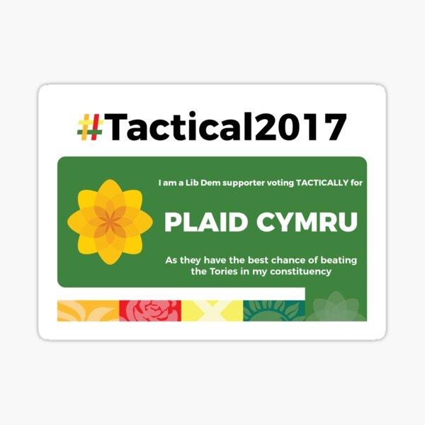 Lib Dem supporting Plaid Cymru Sticker