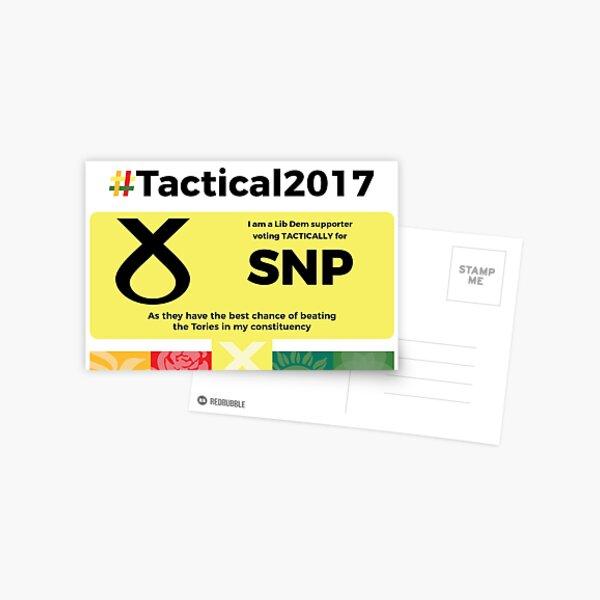 Lib Dem supporting SNP Postcard