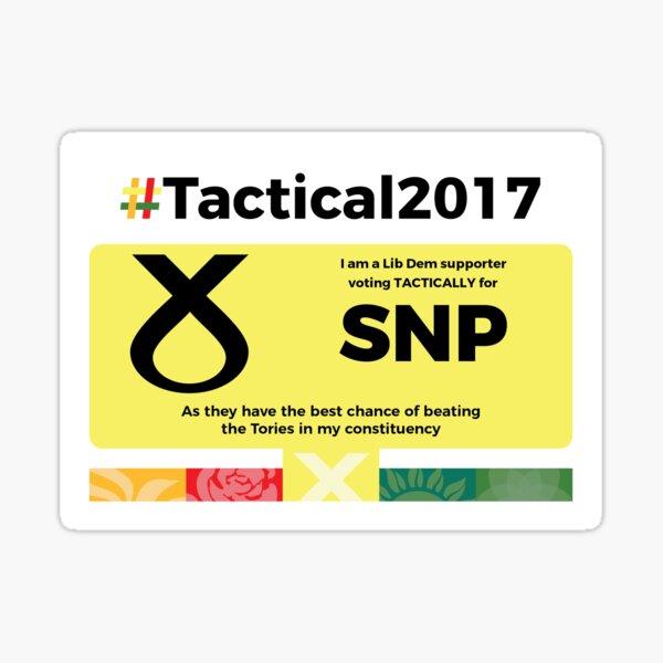 Lib Dem supporting SNP Sticker