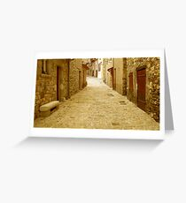 Alone on the lane Greeting Card
