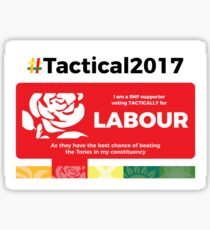 SNP supporting Labour Sticker