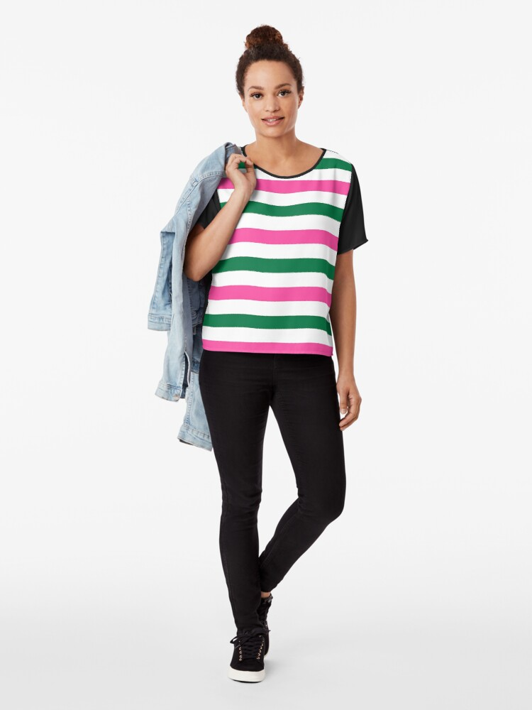 Alternate view of Deckchair Stripes Chiffon Top