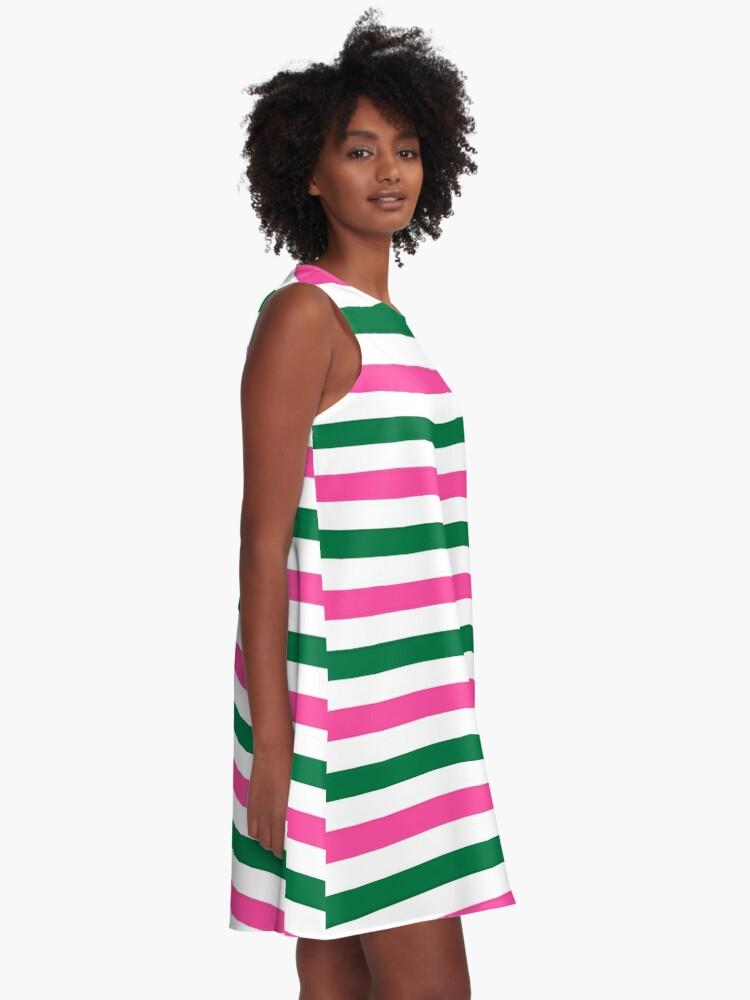 Alternate view of Deckchair Stripes A-Line Dress