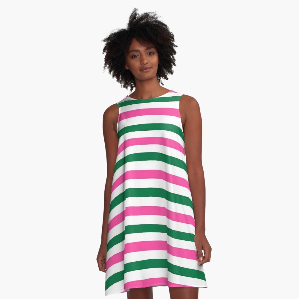 Deckchair Stripes A-Line Dress