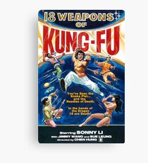 KUNG FU, 18 weapons of Kung Fu Canvas Print