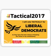 Vote Lib Dem Tactically Sticker
