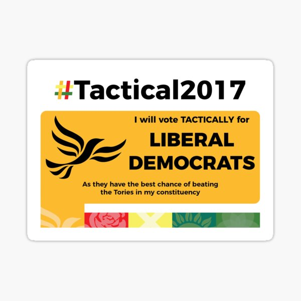 Vote Lib Dem Tactically Sticker