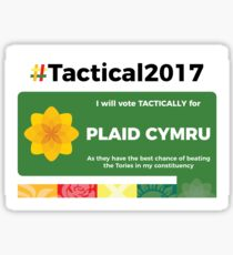 Vote Plaid Cymru Tactically Sticker