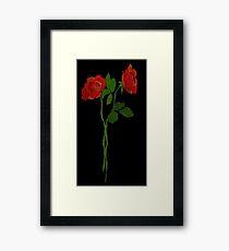 2 dark roses Framed Print