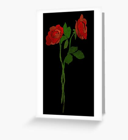 2 dark roses Greeting Card