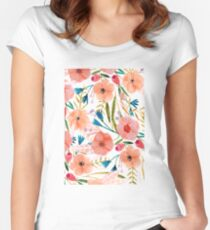 Floral Dance Women's Fitted Scoop T-Shirt