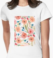 Floral Dance Womens Fitted T-Shirt