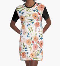Floral Dance Graphic T-Shirt Dress