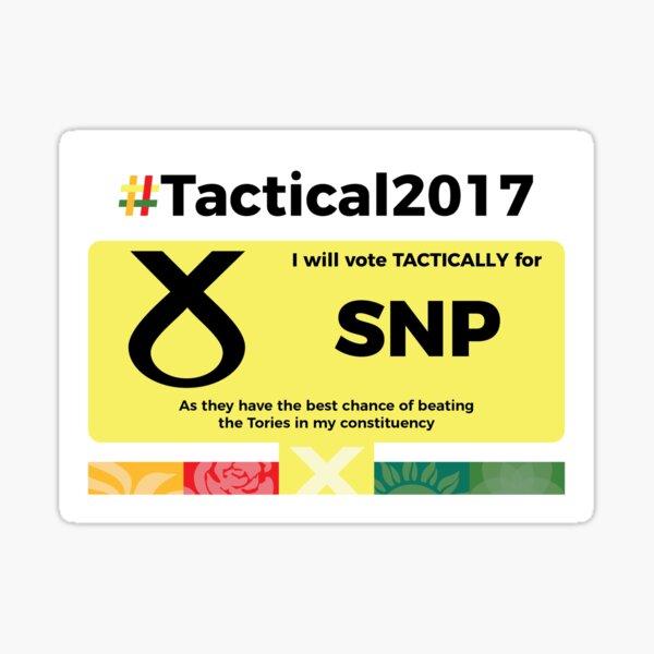 Vote SNP Tactically Sticker