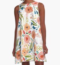 Blumentanz A-Linien Kleid