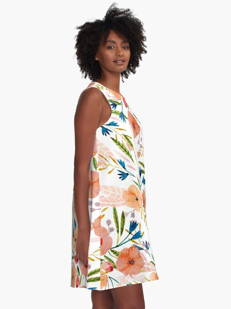 Alternate view of Floral Dance A-Line Dress