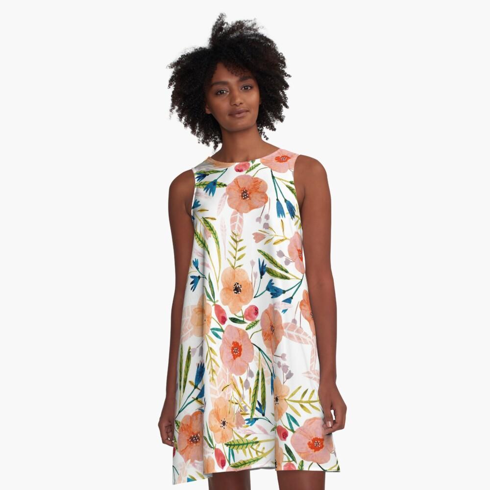 Floral Dance A-Line Dress