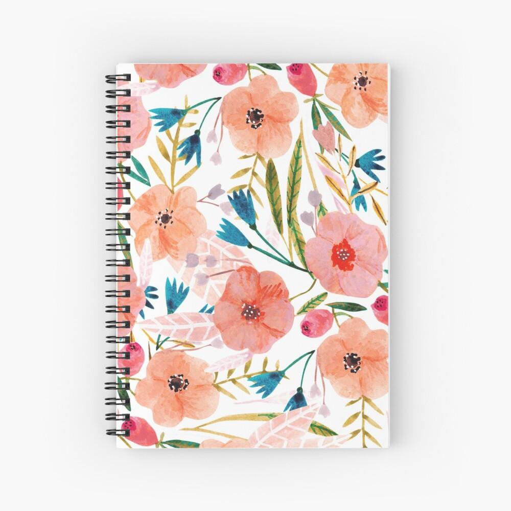 Floral Dance Spiral Notebook
