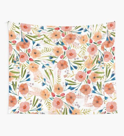 Floral Dance Wall Tapestry